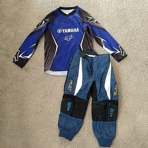 Boys Fox Motocross Jersey small Racing Pants 22